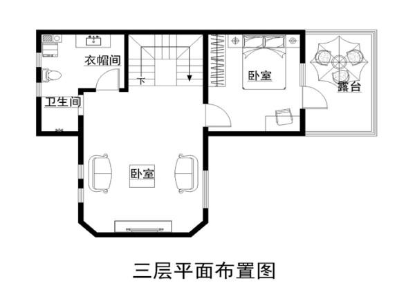 三层家具布置图