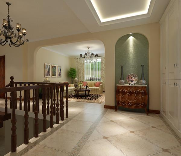 中景江山赋200平米户型二层会客厅效果图