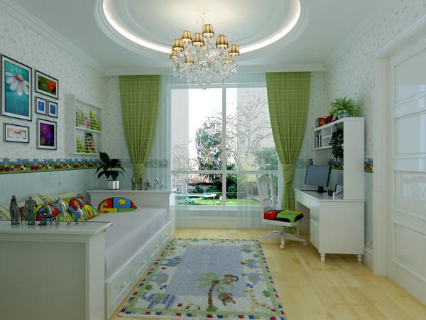 首开常青藤160平米户型儿童房效果图