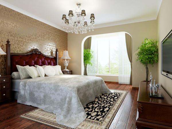中景江山赋200平米户型卧室效果图