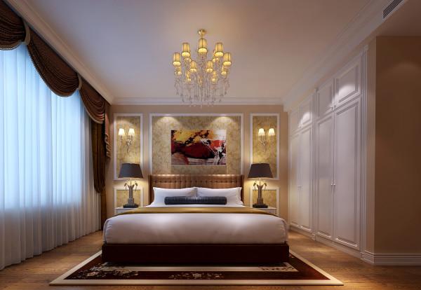 简单的布局,注重体现空间的舒适性,空间色彩跳跃的搭配,让整个空间变得温馨。 亮点:嵌入式的衣柜,大气的床头背景造型,与整体色调相统一的软装 饰品。