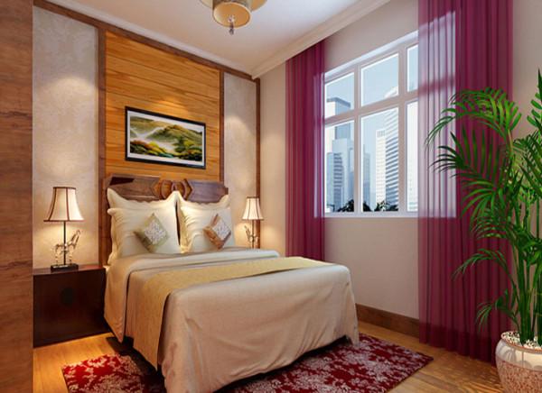 背景墙中融入的软包的工艺,更加体现出卧室的舒适性。整体的家具与装饰效果,体现出卧室的作用和设计师对风格的把控。