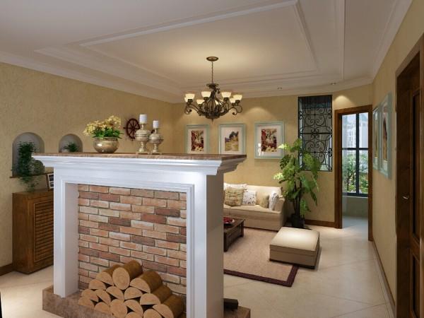 客厅与阳台空间有交集,导致互不完整,这是风水之大忌,设计师将沙发背景加以延伸,配铁艺装饰,留出通往阳台的门,这样将客厅与阳台分开,视觉上美观的同时,给人感觉房子又多出一个房间,显得空间更大!
