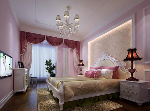 孩子的房间,总是充满了梦幻的感觉,设计师采用了粉色系列的手法,靠枕,和窗帘,墙面的处理。都是用粉色来做主题