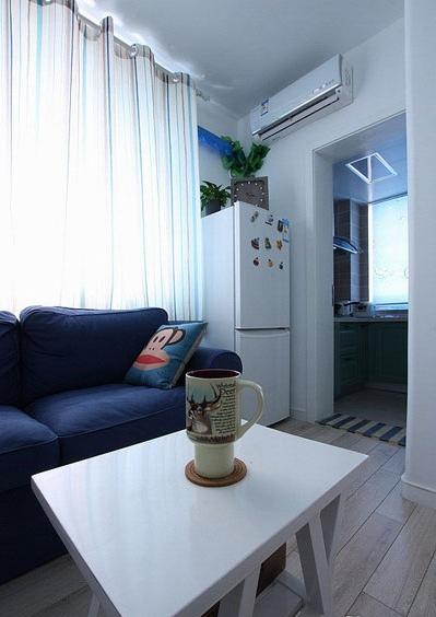 42平地中海小户型婚房 婚房装修,小户型装修,一居室装修,40平米装修,经济型装修,地中海风格
