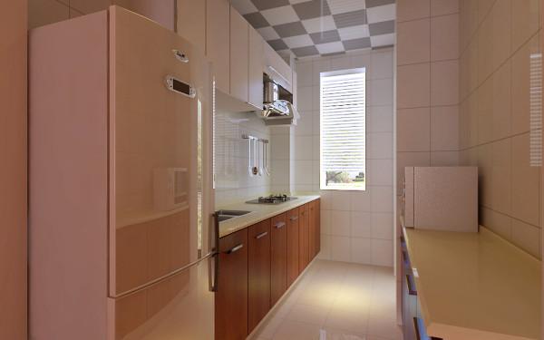 业主喜欢通透的厨房,所以厨房用推拉门,橱柜采用木质颜色为主色,略显业主的个性鲜明。为了突出卧室的清新亮丽,整个卧室刷了暖色,卧室没有过多的造型,用简单的石膏线作为简单的造型,最主要是以简洁实用为主。
