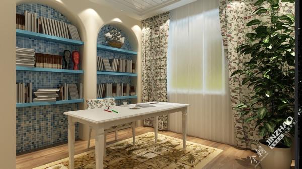 书房采用了的比较浅的色调,因为舒服要保持一中祥和的心态。