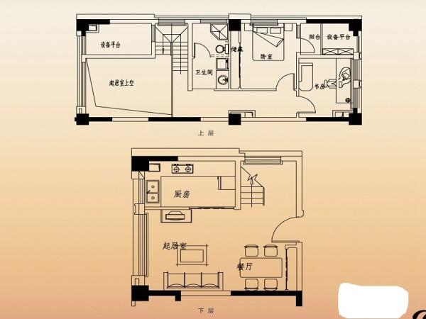 高速滨湖时代广场-现代简约-两居室装修-户型图