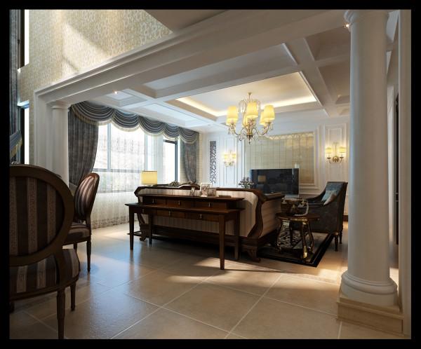 该户型客厅地板采用米白人造大理石,既大气又容易清洗。最大的优点是,人造大理石价格便宜,对于现在供房供车的现代白领是最好的选择,而且大理石地面会在视觉上夸大客厅面积,使本来不大的空间得到延伸和扩展。