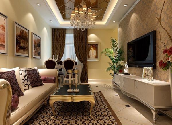 客厅是主任品味的象征,体现了主人品格,地位,也是交友娱乐的场合,既简单又大方,配上顶部照下来的灯光,整个沙发背景墙把客厅提升起来。