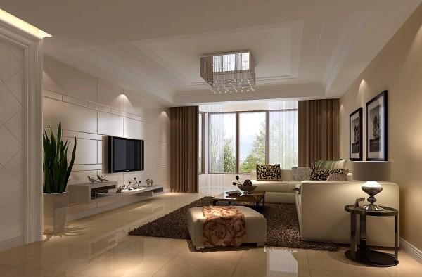 客厅的设计 非常采光 大气的落地窗设计 整个设计非常简约 但是又不失庄重 典雅