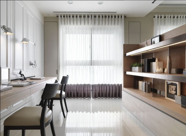简约现代三居新房装修白领80后小资书房装修效果图片 装修美图 新浪高清图片