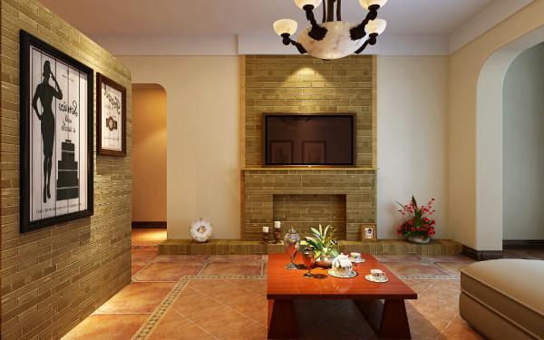 电视背景墙的设计是采用西方国家壁炉式的设计,是不是很有异域风味?并且褐色色调与多功能餐厅融为一体,是整个设计更加协调统一。