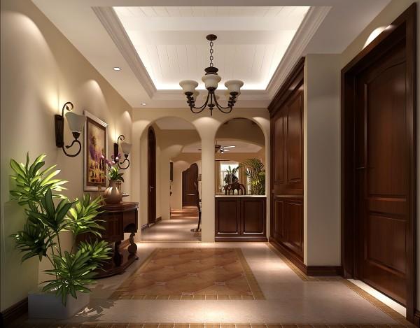 整个房间都采用拱形门的设计,玄关门厅也不例外,很大气,美观