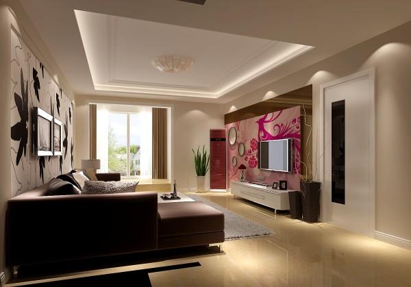 客厅的设计非常的大气。不管是电视墙,还是沙发墙,都特别都特色。很简洁很大方