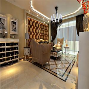 在家具选择上,选用现代感强烈的家具组合,配上合适的灯光及现代化的电器,比如音像器材,就仿佛为主人编织了一个明快美丽的梦想。