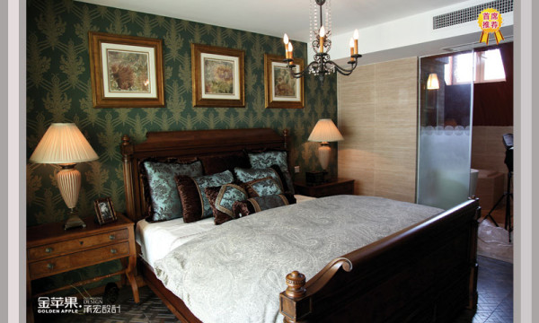 欧式风格卧室实景图