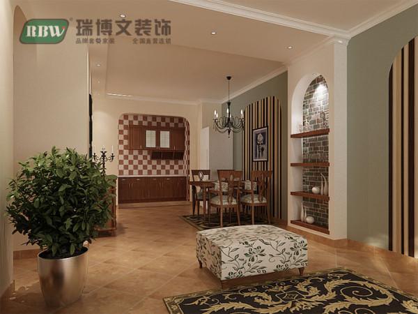 用朴实的橱柜搭配地中海的拱形门,混搭的厨房更具时尚的诱惑力。