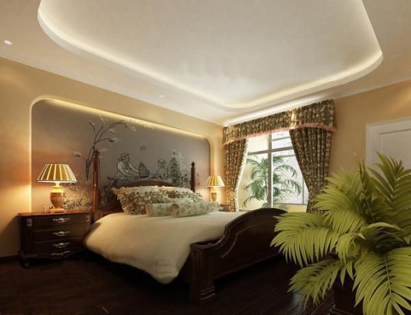融侨上院-东南亚风格-两居室装修-卧室装修效果图