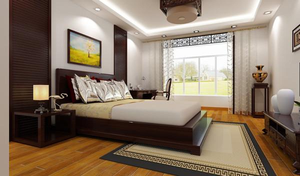【成都实创装饰】保利城—现代简约风格—三居—整体家装—卧室装修效果图