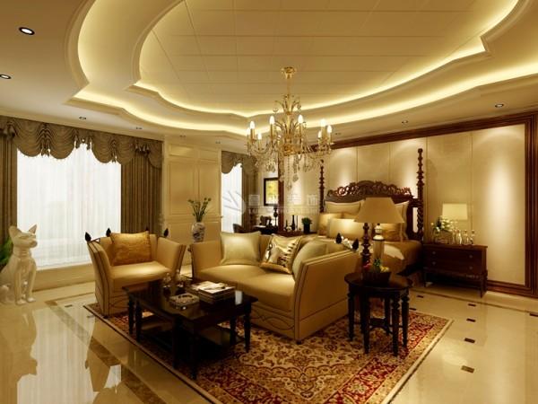色彩鲜艳的布艺沙发,都是欧式客厅里的主角