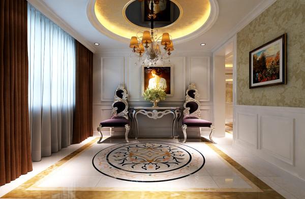 设计理念:门厅房间第一视觉区域,作为家中入门的第一道风景线,既是给人留下第一好印象,又是平日里每天做出门前准备的空间。