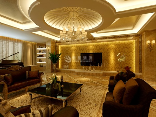 欧式风格强调以华丽的装饰、浓烈的色彩、精美的造型达到雍容华贵的装饰效果。