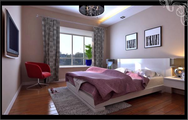 高速奥兰花园两居室简单优雅婚房设计装修设计【卧室设计装修效果图
