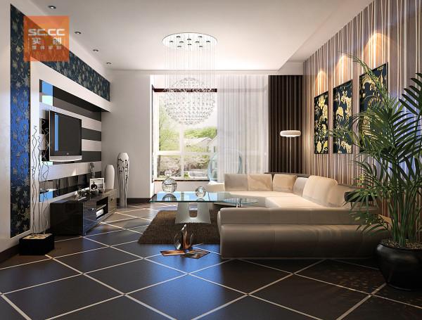 石家庄实创装饰-建投福美国际-94平二居装修效果图