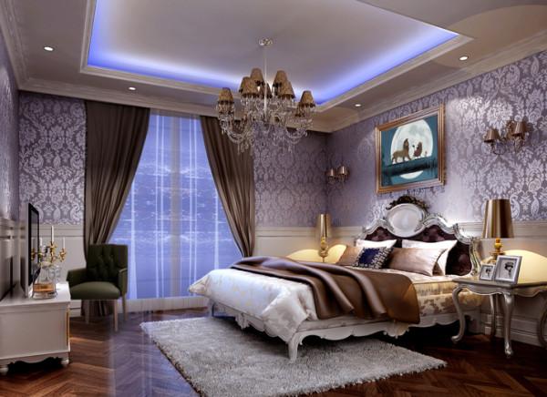 欧式风格—三居 装修参考—整体家装—卧室装修效果