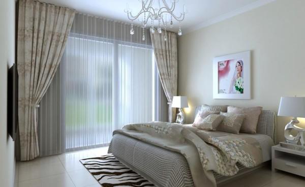 高速奥兰花园两居室简单优雅婚房设计装修设计设计装修效果图