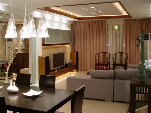 中式家具和现代家居巧妙的搭配,显示出不同的效果