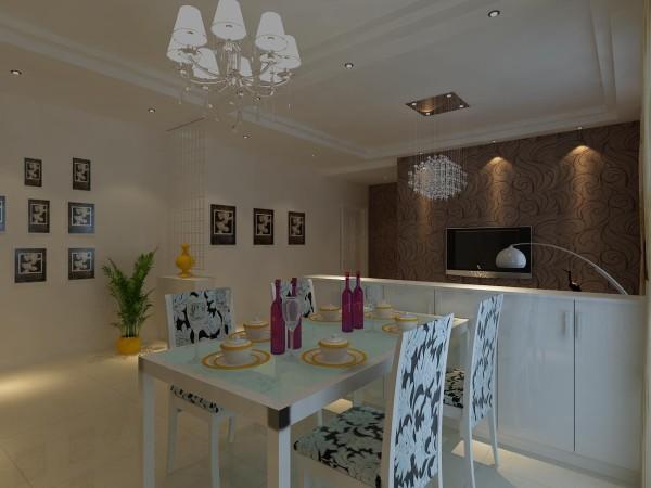 高速奥兰花园两居室简单优雅婚房设计装修设计餐厅设计装修效果图