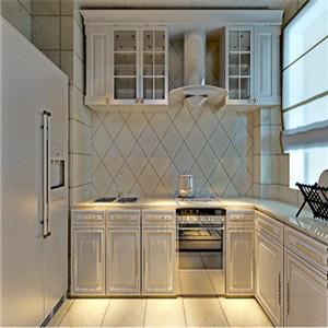 时尚且实用的厨房设计,本案采用开放式厨房设计,突显整体空间更宽敞。