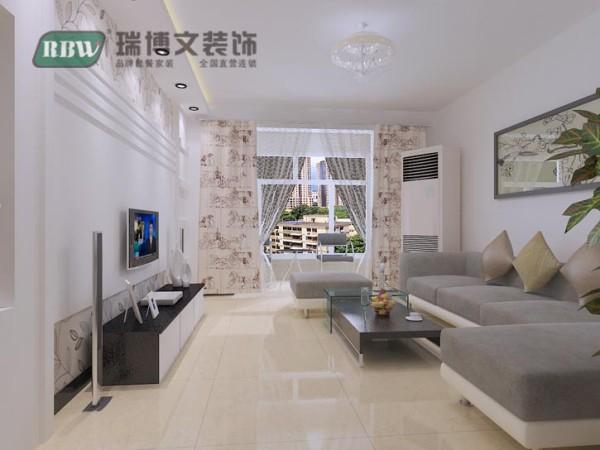 客厅空间顶面避免过多造型带来的压抑感,只是在电视墙上方做了条形顶,打筒灯和灯带再结合电视墙,显现出了客厅空间的亮点。