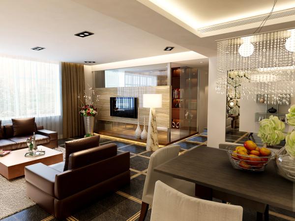 客厅运用了蕴含流行元素的文化墙背景,让现代感体现得更有力量。然后跟上软装的搭配,更让这份现代感显得更有灵动感,更让这空间充满活力。