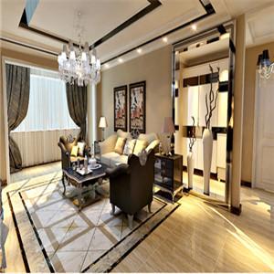 时尚、大气的客厅地砖拼花设计,让居室锦上添花。