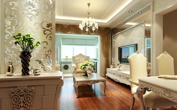 简约 欧式 二居 白领 收纳 80后 小资 客厅图片来自实创装饰百灵在