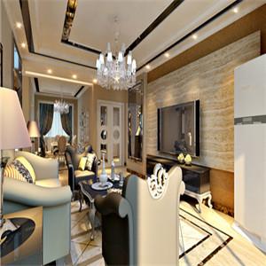 设计师在客厅设计上摒弃了欧式的繁琐,融入了现代与时尚元素。