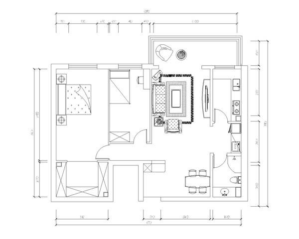 门厅设计说明:入户门厅玄关是一个缓冲过渡地段,本案根据要求在玄关处放置一简约板式鞋柜。