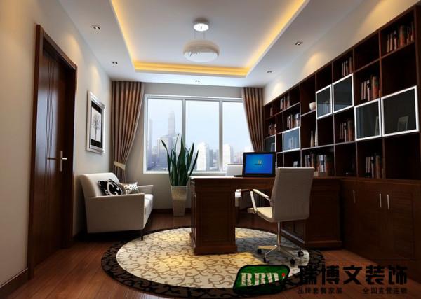 书房的设计还是本着简单大方为主要的设计方案,书架书桌的选择也是本着中式简约的设计为主要的设计思路。