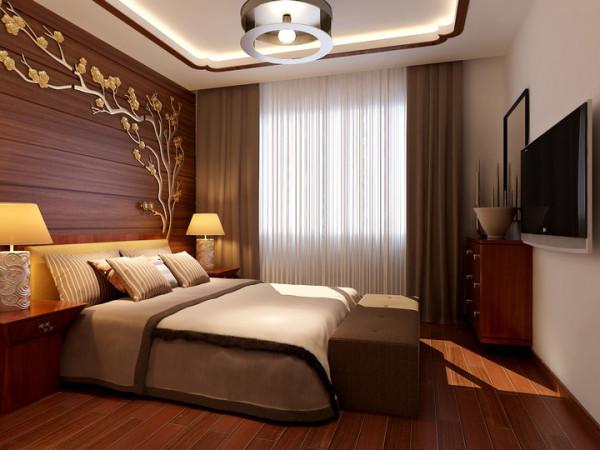 水榭山-中式风格-卧室效果图