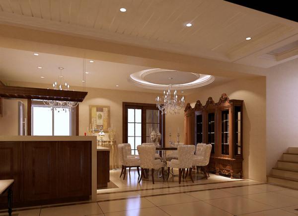 水榭山-欧式风格-餐厅效果图