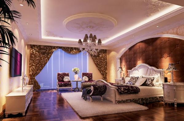 水榭山-欧式风格-卧室效果图