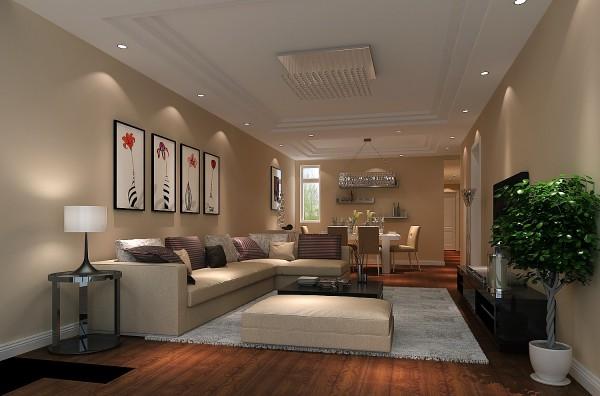 客厅电视墙造型细节,无纺布墙纸点缀,简单大气,简约欧式的味道通过家具和配饰展露无遗。