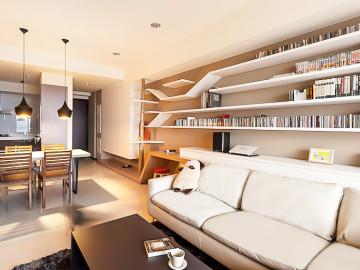 67平北欧风格客厅装修设计