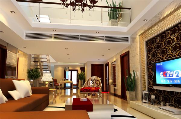 本案以简约风格为主要特征,客厅与餐厅相连接,空间通透舒适。整个空间色彩搭配协调深浅有致,配合柔和的米色大理石地面,让人感觉家的温存。