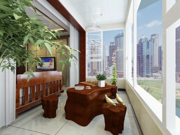 三居80后 小资 新中式风格 旧房改造 阳台图片来自上海实创-装修设计