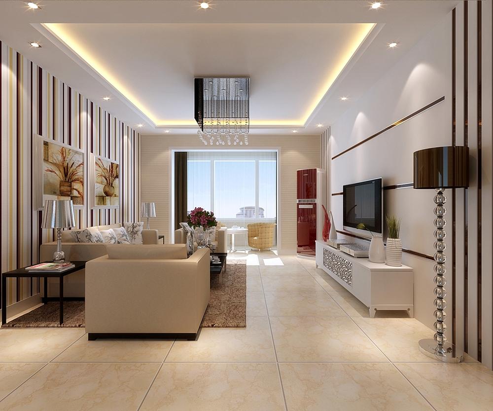 客厅 飘窗 壁纸 电视柜 影视墙图片来自鹏发装饰在保利玫瑰湾98平米