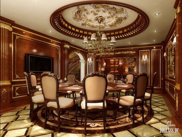 地板和灯池利用方格舒缓单一色调带来的视觉疲劳,大理石地板和石膏吊顶更柔和了朱铜色的炫耀,利用浅色营造空间存在感;同时配合简单的灯光效果,打造出一个多姿多彩的空间。